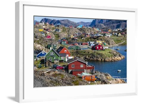 View of the Brightly Colored Houses in Sisimiut, Greenland, Polar Regions-Michael Nolan-Framed Art Print