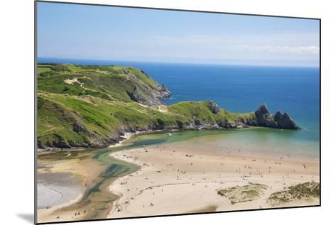 Three Cliffs Bay, Gower, Wales, United Kingdom, Europe-Billy Stock-Mounted Photographic Print