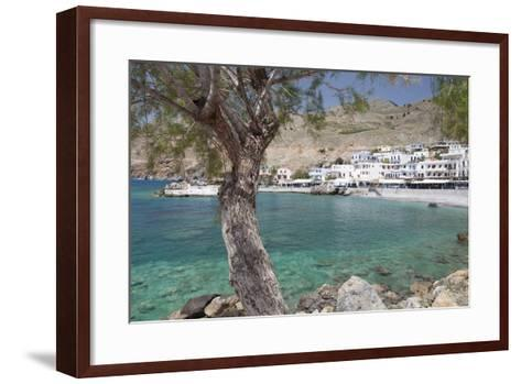 Chora Sfakion, South Crete, Crete, Greek Islands, Greece, Europe-Markus Lange-Framed Art Print