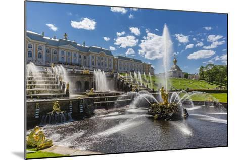 The Grand Cascade of Peterhof, Peter the Great's Palace, St. Petersburg, Russia, Europe-Michael Nolan-Mounted Photographic Print