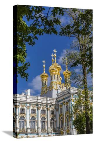 Exterior View of the Catherine Palace, Tsarskoe Selo, St. Petersburg, Russia, Europe-Michael Nolan-Stretched Canvas Print