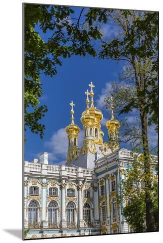 Exterior View of the Catherine Palace, Tsarskoe Selo, St. Petersburg, Russia, Europe-Michael Nolan-Mounted Photographic Print