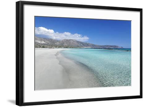Elafonisi Beach, West Coast, Natural Park, Red Sand, Crete, Greek Islands, Greece, Europe-Markus Lange-Framed Art Print