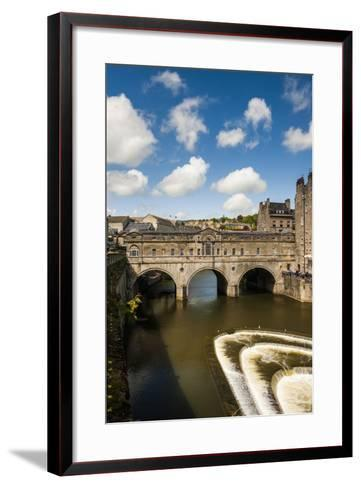 Pulteney Bridge over the River Avon, Bath, Avon and Somerset, England, United Kingdom, Europe-Matthew Williams-Ellis-Framed Art Print