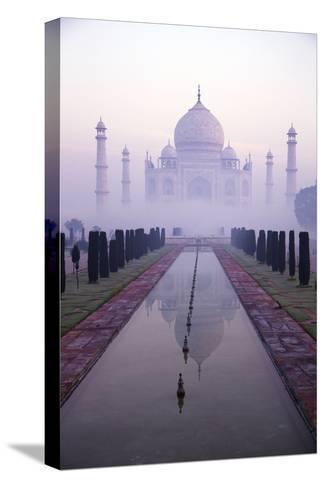 Taj Mahal at Dawn, UNESCO World Heritage Site, Agra, Uttar Pradesh, India, Asia-Peter Barritt-Stretched Canvas Print