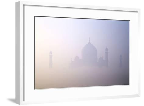 Taj Mahal at Dawn, UNESCO World Heritage Site, Agra, Uttar Pradesh, India, Asia-Peter Barritt-Framed Art Print