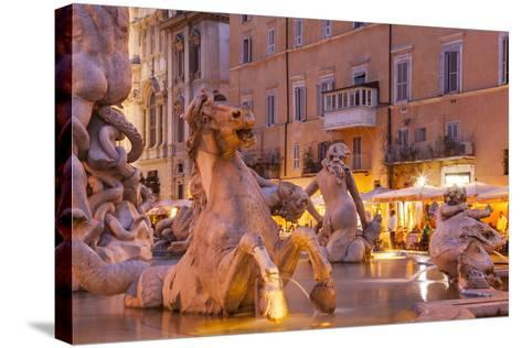 Piazza Navona in Rome, Lazio, Italy, Europe-Julian Elliott-Stretched Canvas Print