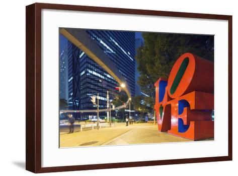 Love Sculpture by Robert Indiana, Shinjuku, Tokyo, Honshu, Japan, Asia-Christian Kober-Framed Art Print