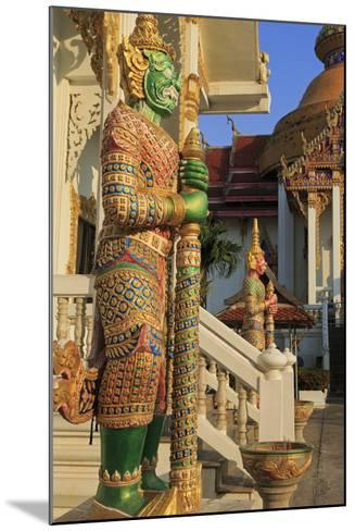 Warrior in Wat Chamongkron Royal Monastery, Pattaya City, Thailand, Southeast Asia, Asia-Richard Cummins-Mounted Photographic Print