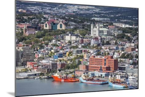 St. Johns Harbour and Downtown Area, St. John'S, Newfoundland, Canada, North America-Michael Nolan-Mounted Photographic Print
