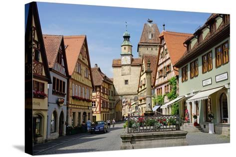 Markus Tower and Roder Arch, Rothenburg Ob Der Tauber, Romantic Road-Robert Harding-Stretched Canvas Print
