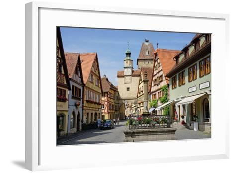 Markus Tower and Roder Arch, Rothenburg Ob Der Tauber, Romantic Road-Robert Harding-Framed Art Print