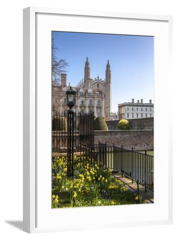 A View of Kings College from the Backs, Cambridge, Cambridgeshire, England, United Kingdom, Europe-Charlie Harding-Framed Art Print