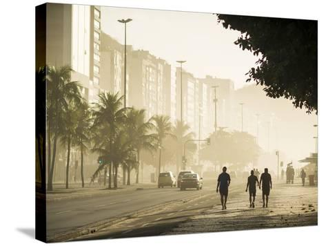 Copacabana Beach at Dawn, Rio De Janeiro, Brazil, South America-Ben Pipe-Stretched Canvas Print