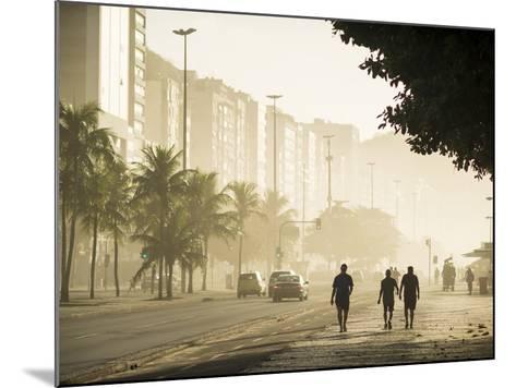 Copacabana Beach at Dawn, Rio De Janeiro, Brazil, South America-Ben Pipe-Mounted Photographic Print