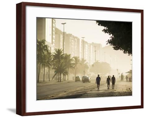 Copacabana Beach at Dawn, Rio De Janeiro, Brazil, South America-Ben Pipe-Framed Art Print