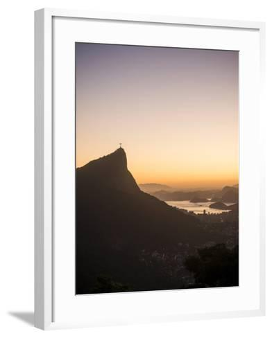 View from Chinese Vista at Dawn, Rio De Janeiro, Brazil, South America-Ben Pipe-Framed Art Print