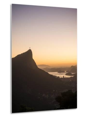 View from Chinese Vista at Dawn, Rio De Janeiro, Brazil, South America-Ben Pipe-Metal Print