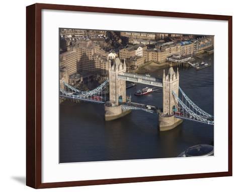 Aerial of Tower Bridge, London, England, United Kingdom, Europe-Charles Bowman-Framed Art Print
