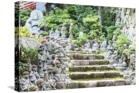 Statues in Daisho-In Buddhist Temple, Miyajima Island, Hiroshima Prefecture, Honshu, Japan, Asia-Christian Kober-Stretched Canvas Print