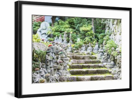 Statues in Daisho-In Buddhist Temple, Miyajima Island, Hiroshima Prefecture, Honshu, Japan, Asia-Christian Kober-Framed Art Print