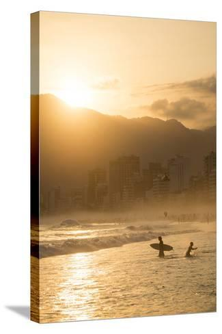 Ipanema Beach at Sunset, Rio De Janeiro, Brazil, South America-Ben Pipe-Stretched Canvas Print