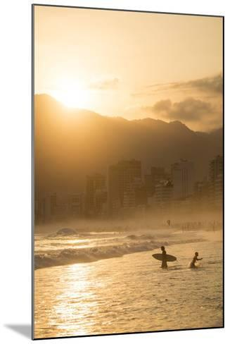 Ipanema Beach at Sunset, Rio De Janeiro, Brazil, South America-Ben Pipe-Mounted Photographic Print