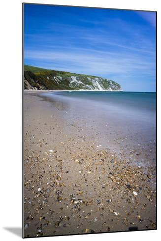 Swanage Beach and White Cliffs, Dorset, England, United Kingdom, Europe-Matthew Williams-Ellis-Mounted Photographic Print