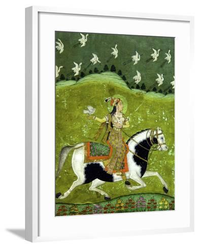 Sultan Razia of Delhi, 18th Century, Archaeological Museum, Red Fort, Delhi, India, Asia-Peter Barritt-Framed Art Print