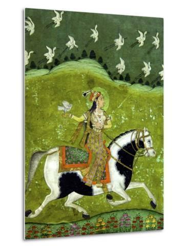Sultan Razia of Delhi, 18th Century, Archaeological Museum, Red Fort, Delhi, India, Asia-Peter Barritt-Metal Print