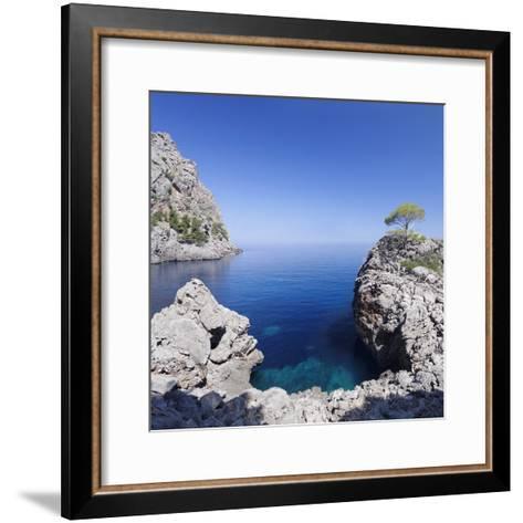 Bay Cala De Sa Calobra, Majorca (Mallorca), Balearic Islands (Islas Baleares)-Markus Lange-Framed Art Print