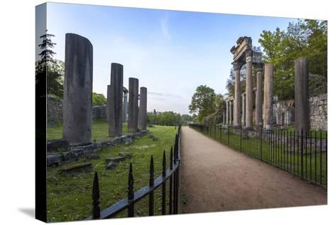 The Ruins, Originally from Leptis Magna, a Roman Town Near Tripoli-Charlie Harding-Stretched Canvas Print