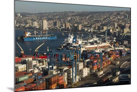 View of City and Ports from Paseo 21 De Mayo, Cerro Playa Ancha, Valparaiso-Ben Pipe-Mounted Photographic Print