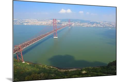 Ponte 25 De Abril (25th of April Bridge) over the Tagus River, Lisbon, Portugal, Europe-G&M Therin-Weise-Mounted Photographic Print