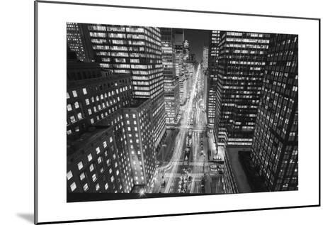 Park Avenue at Night - Aerial View Of Midtown Manhattan Iconic Nyc-Henri Silberman-Mounted Photographic Print