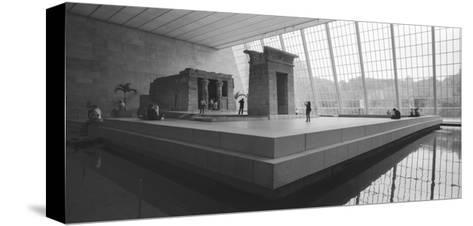 Temple Of Dendor Panorama 2 - Metropolitan Museum Of Art-Henri Silberman-Stretched Canvas Print