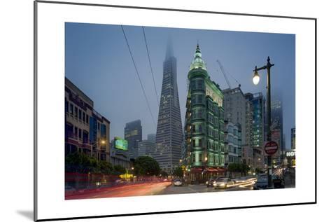 Transamerica Building, Zoetrope Café San Night - Iconic Landmark Buildings California-Henri Silberman-Mounted Photographic Print