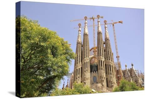 Barcelona, Sagrada Familia-Stefano Salvetti-Stretched Canvas Print