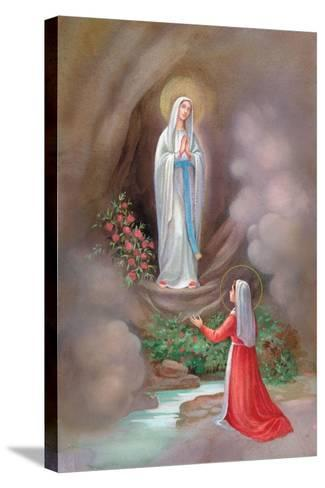 Lady of Lourdes Bernadette-Christo Monti-Stretched Canvas Print