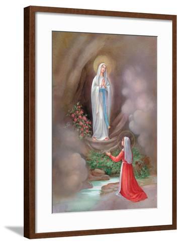 Lady of Lourdes Bernadette-Christo Monti-Framed Art Print
