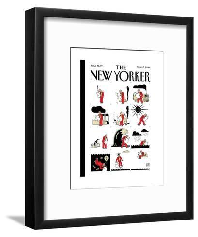 The New Yorker Cover - May 17, 2010-Joost Swarte-Framed Art Print