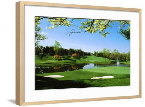 Golf Course, Congressional Country Club, Potomac, Montgomery County, Maryland, USA--Framed Art Print
