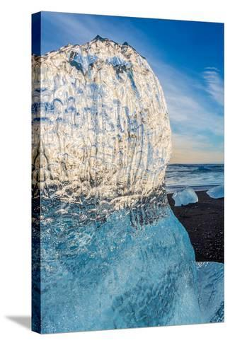 Close Up on Ice. Ice Formations Come from the Jokulsarlon Glacial Lagoon--Stretched Canvas Print