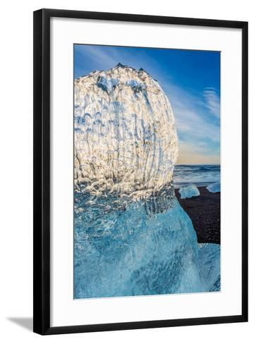 Close Up on Ice. Ice Formations Come from the Jokulsarlon Glacial Lagoon--Framed Art Print
