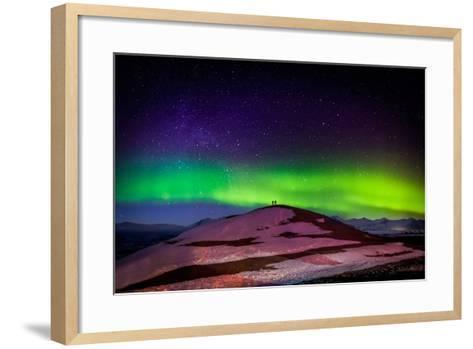 Photographing the Auroras and Icebergs at the Glacial Lagoon, Jokulsarlon Breidamerkurjokull--Framed Art Print