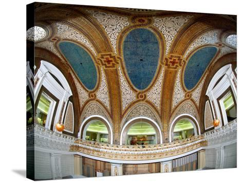 Interior Detail of Tiffany Dome, Marshall Field and Company Building, Chicago, Illinois, USA--Stretched Canvas Print