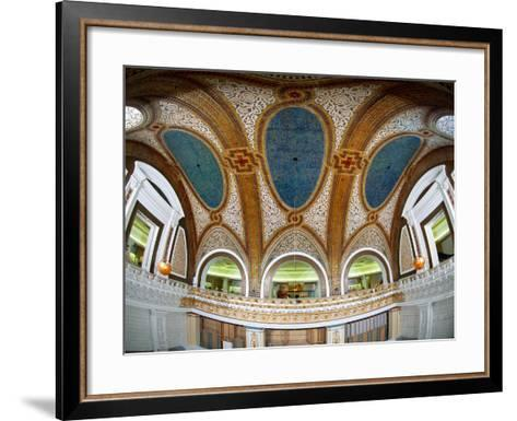 Interior Detail of Tiffany Dome, Marshall Field and Company Building, Chicago, Illinois, USA--Framed Art Print