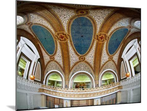 Interior Detail of Tiffany Dome, Marshall Field and Company Building, Chicago, Illinois, USA--Mounted Photographic Print