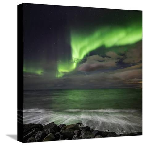 Aurora Borealis or Northern Lights, Lapland, Sweden Aurora Borealis or Northern Lights--Stretched Canvas Print