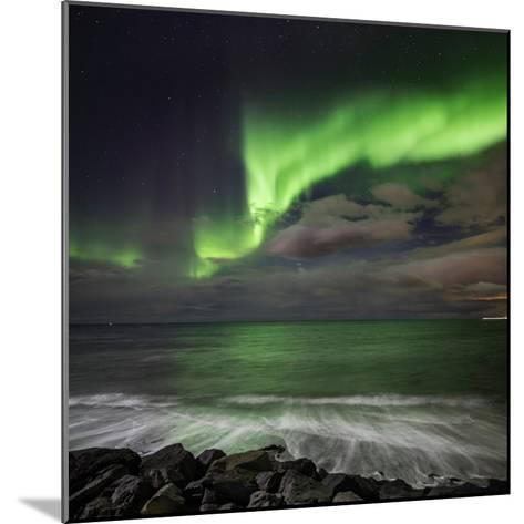 Aurora Borealis or Northern Lights, Lapland, Sweden Aurora Borealis or Northern Lights--Mounted Photographic Print